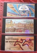 Lotto Biglietto Lotteria MONZA + VENEZIA + MERANO 1985 usati