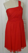 STUNNING GENTLY WORN RED SILK CHIFFON DRESS BY J.CREW IN GREAT CONDITION!!!