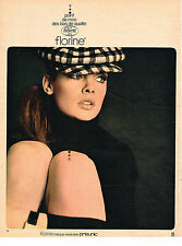 PUBLICITE ADVERTISING 044  1966  PRISUNIC  bas & collants FLORINE
