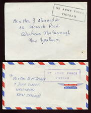 NEW ZEALAND ARMY in VIETNAM 1965-6 ARTILLERY...2 COVERS