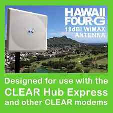 CLEAR Hub Express 18dBi WiMAX Directional Panel Antenna w/5 Meter LMR-200 cable