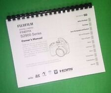 LASER PRINTED Fujifilm S2980 S2995 FinePix Camera 144 Page Owners Manual Guide