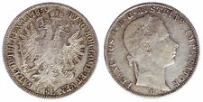 1 Florin 1859 B Franz Joseph I Austria Argento Silver #7041A