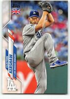 2020 Topps UK Edition #53 Clayton Kershaw Los Angeles Dodgers