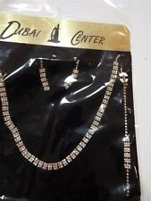 Necklace Ring Bracelet & Earrings Set beautiful silver crystals fashion jewelry