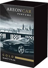 Air Freshener AREON Lux Perfume Gold 50ml. Scent Tree Auto Scent Perfume