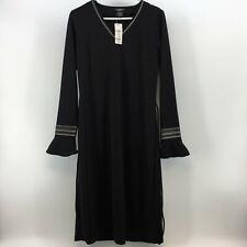 B. Moss Clothing Company Womens Long Sleeve Stretch Dress Size 10 Black