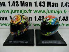 LOT 2 ROSSI CM1+CM6 CASQUES MOTO GP 1/5  : VALENTINO ROSSI 1999 #46 + 2009