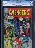 Avengers #91 CGC 8.0 CAPTAIN MARVEL Black Panther 1971 Sal Buscema ROY THOMAS