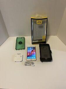 Apple iPhone 6 Plus - 128GB - Gold Model IP6P128GGLD Bundle Otter Box READ