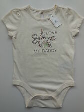 BABY GAP INFANT GIRL 'LOVE MY DADDY' ROMPER SIZE 1 FITS 12-18M *NEW