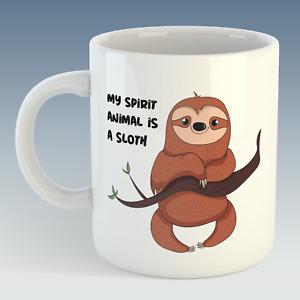 My Spirit Animal is a Sloth Humour Funny Mug Gift