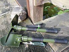 4 in 1 KLAPPSPATEN Hacke + Taschenmesser + Zoom Cree Taschenlampe