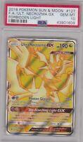 Pokemon Card : PSA 10 Gem Mint ULTRA NECROZMA GX 127/131 Forbidden Light