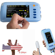 51 Touchable Portable Vital Sign Monitor Cardiac Ecg Nibp Spo2 Pr Temp Fda Ce