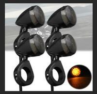 4X FRECCE OMOLOGATE 20 LED PER HARLEY MOTO CUSTOM CROMATO SUPPORTO E11