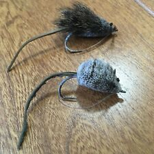 Two (2) Handtied Flies-1-Mouse Fly & 1 Mouse/Rat Fly-Great for Largemouth Bass