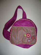AMERICAN GIRL BITTY BABY TWINS for GIRLS AMECROSSOVER BAG PURPLE STRIPES FLOWERS