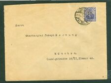 """Germany – Perfin """"MR"""" on 1921 (27.5.21) Cover Berlin to Munchen"""