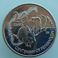 Australia 2001 Centenary of Federation Western Australia WA 20c Unc Coin
