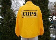 Vtg 1996 TV SHOW COPS Yellow Jacket Barbour Langley Prods Large crew windbreaker