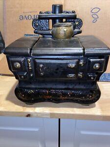 Vintage McCoy Pottery Black Cook Stove Cookie Jar 1960's