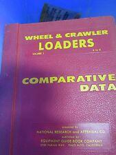 COMPARATIVE DATA WHEEL & CRAWLER TRACTORS VOL 1 A TO E