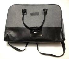 John Varvatos Medium Weekender Carry On Travel Duffle Bag Gray & Black NWT