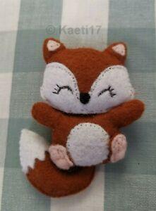 Die cut felt kit cute ginger fox kawaii pet keyring sew Christmas decoration