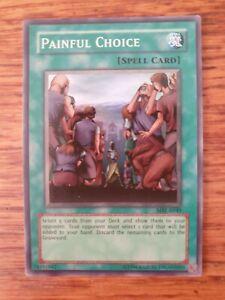 Yugioh Painful Choice MRL-E049 Super  Yugioh Near Mint Condition