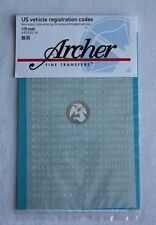 Archer 1/35 US Vehicle Early War Specific Registration Codes (White) AR35051W