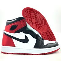 Nike WMNS Air Jordan 1 High OG Satin Black Toe Black Red CD0461-016 Women's 5-12