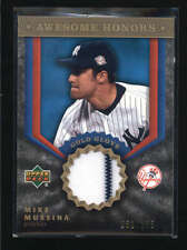 MIKE MUSSINA 2004 UPPER DECK AWESOME HONORS GAME USED JERSEY #051/165 AB5374
