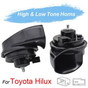 Dual Pitch Snail Horn 410/510Hz For Toyota Hilux AN20 AN30 AN120 AN130 04-20