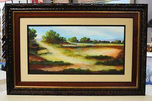 """R.C. Chapman, """"Summer Field #3"""", 29""""x44"""", Original, Landscape, Framed, Matted"""