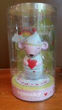 Itsy Bitsy Buddy Mouse Squeaky, Peace & Love Collectible Friendship Figurine New