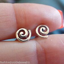 Spiral Post Earrings - 925 Sterling Silver Stud Earrings NEW Swirl Helix Vortex