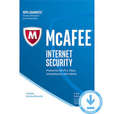 McAfee Internet Security 5 anni 1 dispositivo PC 2017 chiave più recente Firewall Antivirus