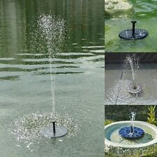 Floating Solar Powered Pond Garden Water Pump Fountain Kit For Bird Bath Tank US