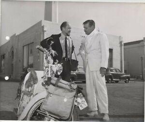 Soldier of Fortune Clark Gable Studio Backlot Vintage Scooter Original Photo
