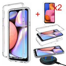 For Samsung Galaxy A20S Case Clear Bumper Slim TPU Phone Cover/ Screen Protector