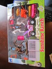 Sunshine Ranch ATV pink horse farm riding little people stable New Collectible