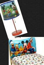 DISNEY JUNIOR MICKEY MOUSE CLUB HOUSE STICK TABLE RED LAMP +2 PIECE TODDLER SET