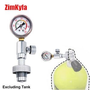 NEW DIN Air Tank Pressure Checker For Scuba Diving with 40MPa Gauge G5/8