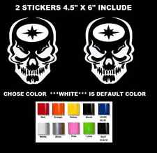 "6"" POLARIS RZR XP SKULL VINYL DECAL STICKER WINDOW CAR TRUCK ATV UTV ( #713 )"