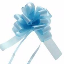 Ribbon Pull Bows 30 palm size pompom bows gifts decor BABY BLUE gift tie on Easy