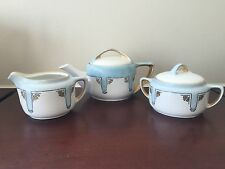 Set of 3 Antique Rosenthal Selb-Bavaria Donatello Teapot sugar bowl and pitcher