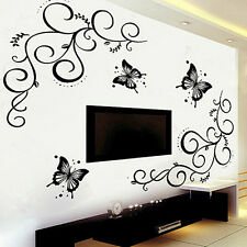 Butterfly Flower DIY Removable Wall Sticker Decal Mural Living Room Home Decor