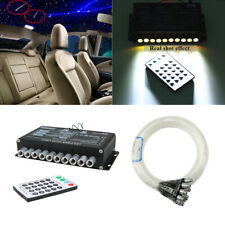 50x Fiber Optic Light Meteor Star White LED Car Overhead Dynamic Ceiling Remote