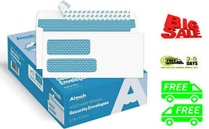 500#9 Double Window SELF SEAL Security Envelopes - for Invoices, Statements & -